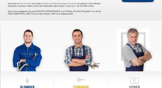 Deux sites à connaitre pour un plombier ou un vitrier à Paris