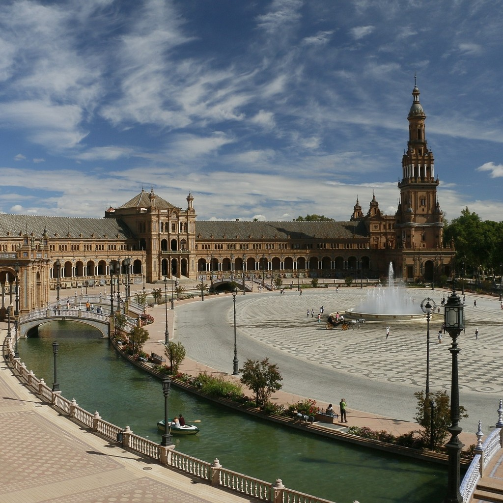 la place d Espagne a Seville